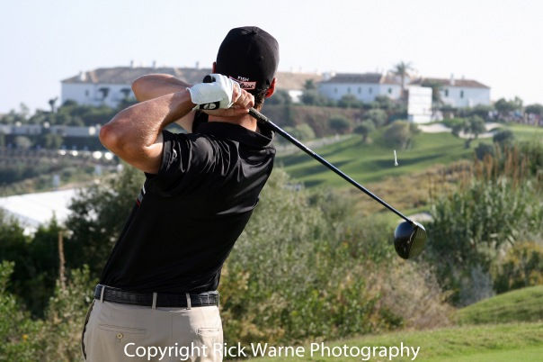 The final 18 holes of the Volvo World Match Play held at Finca Cortesin, Caseres, Malaga, Spain. England's Ross Fisher beat Anthony Kim 5&4 to win the Volvo World Match Play championship, Fisher won 750,000 euros and Kim won 450, 000. Pictured: Ross Fisher (England) Ref: SPL136359 011109 Picture by: London Ent / Splash News Splash News and Pictures Los Angeles:310-821-2666 New York:212-619-2666 London:870-934-2666 photodesk@splashnews.com